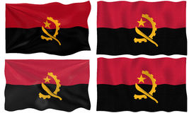 Four Flags of angola Stock Photo