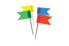 Four flags isolated Stock Photo