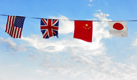 Four flags Royalty Free Stock Image