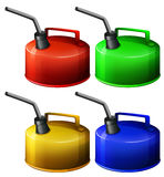 Four flamable gas container Stock Photography