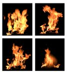 Four flames Royalty Free Stock Images