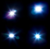 Four flares Royalty Free Stock Image