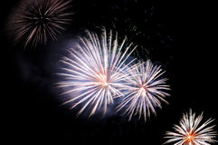 Four flashes of festive fireworks Royalty Free Stock Photography
