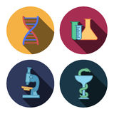 Four flat medicine icons Royalty Free Stock Photography