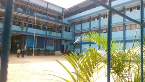 Four floor information and technology vocational high school. My school, our school four floor information and technology vocational high school in Depok Royalty Free Stock Photos