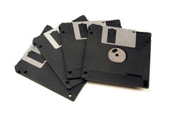 Four floppy disks Royalty Free Stock Photography