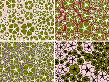 Four floral backgrounds Royalty Free Stock Photos