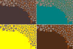Four floral backgrounds Royalty Free Stock Photography
