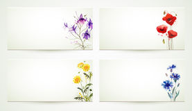 Four floral banners Royalty Free Stock Photography