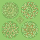 Four floral decorative ornament Royalty Free Stock Photography
