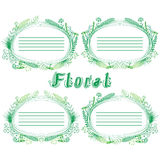 Four floral frame with space for text Stock Photography