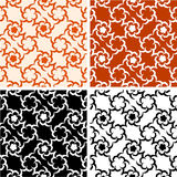 Four floral pattern Stock Photography