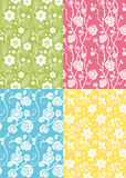 Four floral seamless Stock Photography