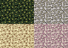 Four floral seamless texture Royalty Free Stock Images