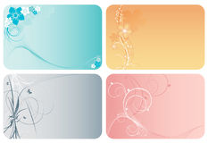 Four floral vector backgrounds Royalty Free Stock Image