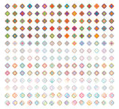 Four flower colorful shape stroke set Royalty Free Stock Photos