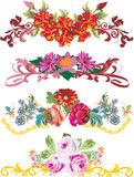 Four flower strips Royalty Free Stock Photo