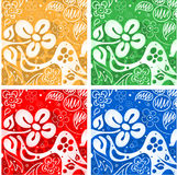 Four flowers backgrounds Stock Photo