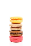Four fluffy baked macaroon biscuits Stock Image