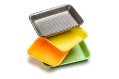 Four Foam Trays Royalty Free Stock Image