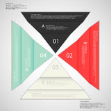 Four folded paper pieced on light background Stock Image