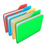 Four Folders Stock Photo