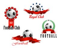 Four football and soccer emblems Stock Photography