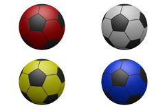 Four Footballs Stock Photography