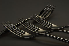 Four Forks with reflection Stock Images