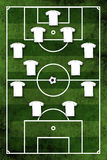 Four-four-two formation Stock Images