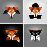 Four foxes Stock Images