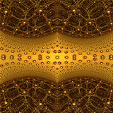 Four fractal make  abstract geometric composition-3d rendering Royalty Free Stock Images
