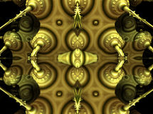 Four fractal make  abstract geometric composition-3d rendering Royalty Free Stock Image