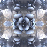 Four fractal make  abstract geometric composition-3d rendering Stock Photos