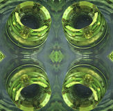 Four fractal make  abstract geometric composition-3d rendering Royalty Free Stock Photo