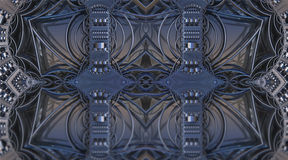 Four fractal make  abstract geometric composition-3d rendering Stock Photography