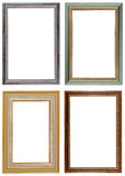 Four Frame. Vintage picture frame, isolated image, white background Stock Photos