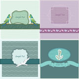 Four frames. Four bright frames on sea theme Stock Images
