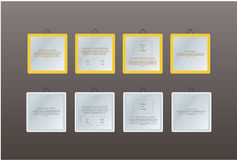 Four frames with space for your information. Stock Photography