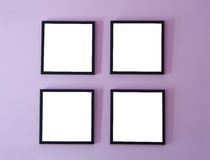 Four frames on wall Royalty Free Stock Images