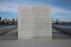 Four Freedoms Park Royalty Free Stock Photo