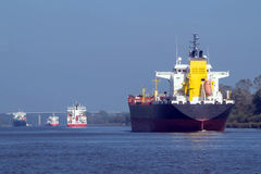Four Freighters Royalty Free Stock Photography
