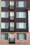 Four French Balconies Royalty Free Stock Images