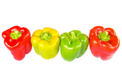 Four fresh sweet pepper Royalty Free Stock Image