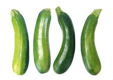 Four fresh zucchini Stock Photos