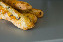 Four freshly baked baguette of biscotti Royalty Free Stock Image