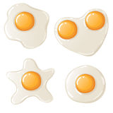 Four fried eggs Royalty Free Stock Photo