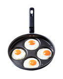 Four fried eggs - Sunny side up Stock Image
