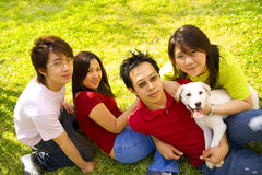Four Friends Stock Image