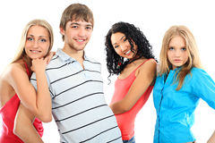 Four friends Stock Images